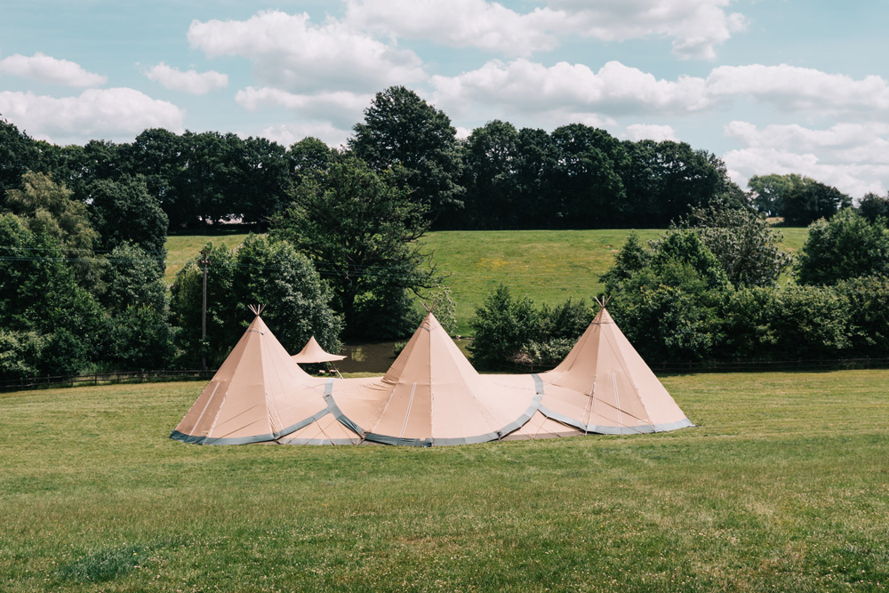 3 Tipis at Greenhill Farm